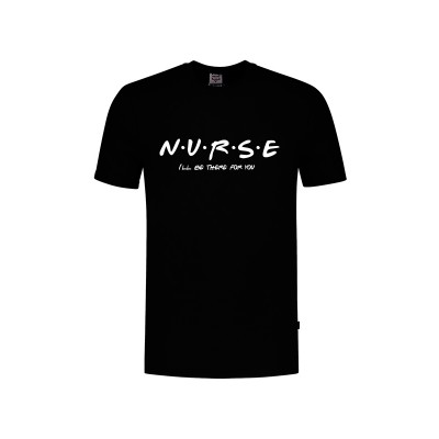 T-Shirt Nurse For You Zwart